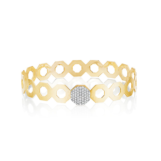 14K Yellow GoldHero Collection Octagon Bracelet