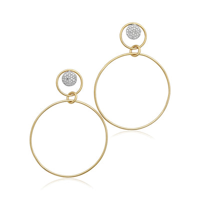 14K Yellow Gold Infinity Loop Collection Diamond Drop Earrings