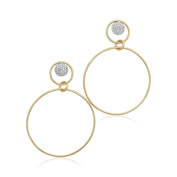 Phillips House 14K Yellow Gold Infinity Loop Collection Diamond Drop Earrings