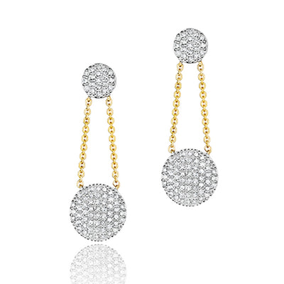 14K White and Yellow Gold Affair Collection Earrings