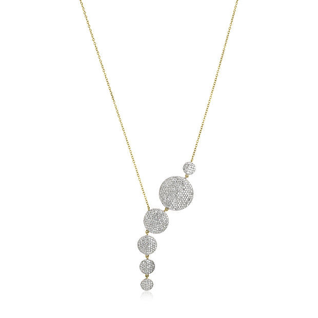 14K White and Yellow Gold Affair Collection Diamond Necklace