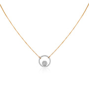 14K Yellow Gold Affair Collection Necklace with a Diamond Pendant