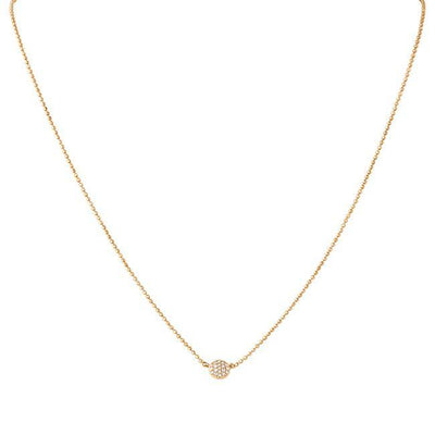 14K Rose Gold Affair Collection Mini Infinity Necklace with Diamonds
