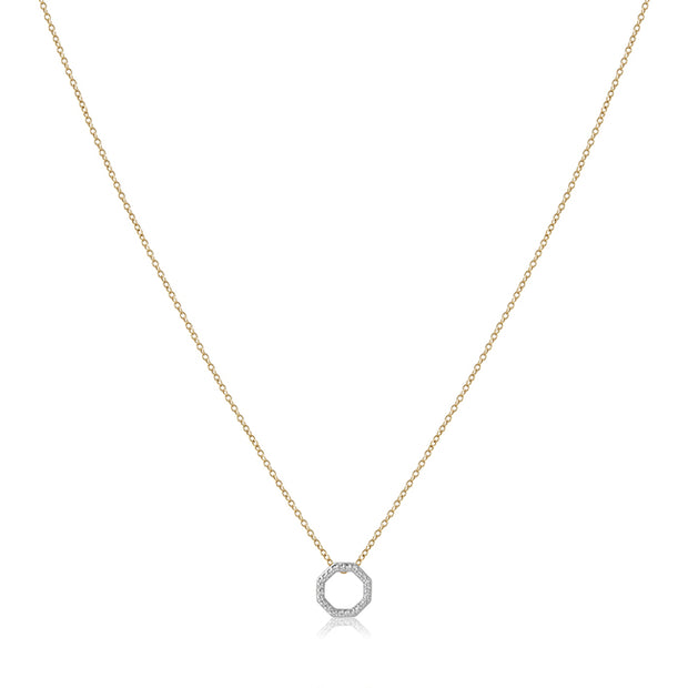 Phillips House 14K Yellow Gold Octagon Necklace with Diamonds