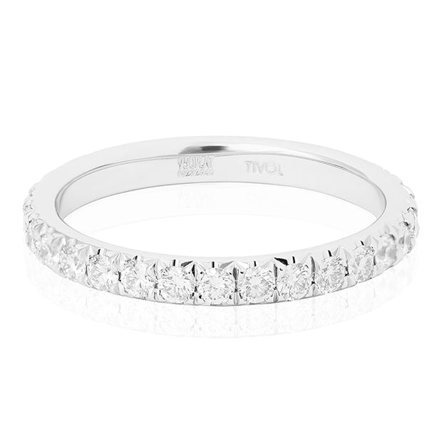 Platinum Round Diamond  Eternity Band