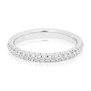 Tivol Platinum Two Row Diamond Band