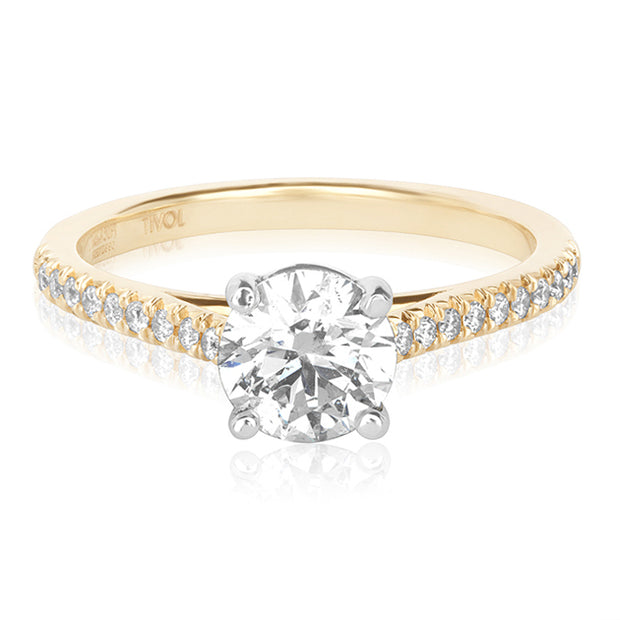 Precision Set 14K Yellow Gold Mounting with Diamonds
