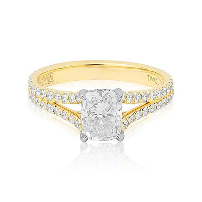 18K Yellow Gold Diamond Mounting