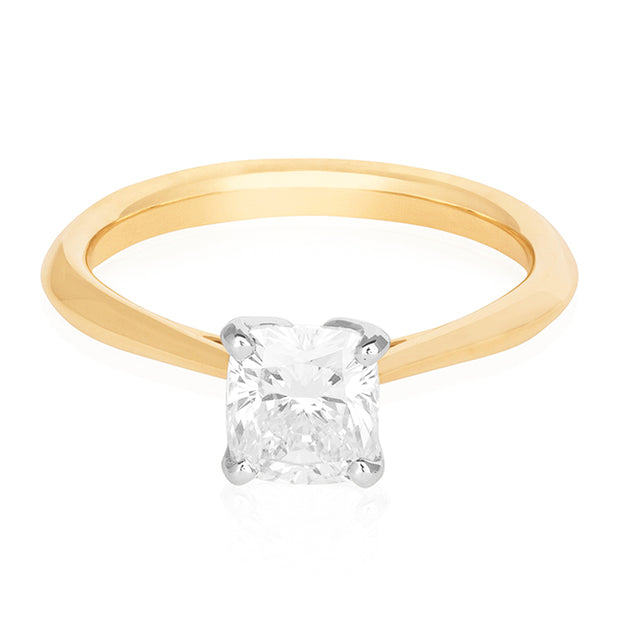 Precision Set Yellow Gold Solitaire Mounting