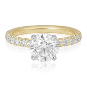 18K Yellow Gold Diamond Semi Mounting