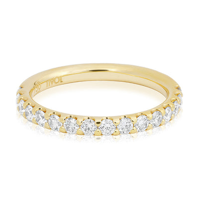 Precision Set Yellow Gold Diamond Band