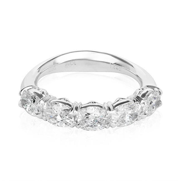 Platinum Oval Diamond Band