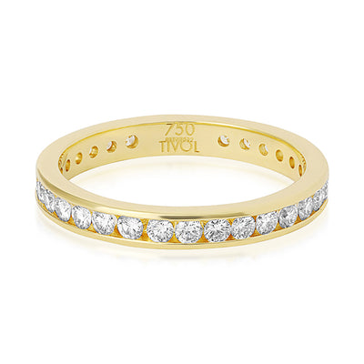 Tivol Yellow Gold Diamond Band