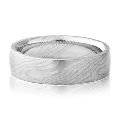 PRECISION SET 14K White and Rose Gold and Palladium Wedding Band