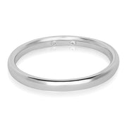 Precision Set Platinum High Polished Men's Wedding Band