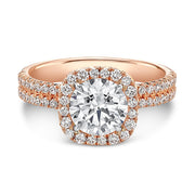 Rahaminov Rose Gold FOREVERMARK Diamond Ring Top View