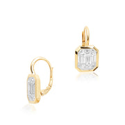 18K Yellow Gold Kaleido Collection Diamond Earrings