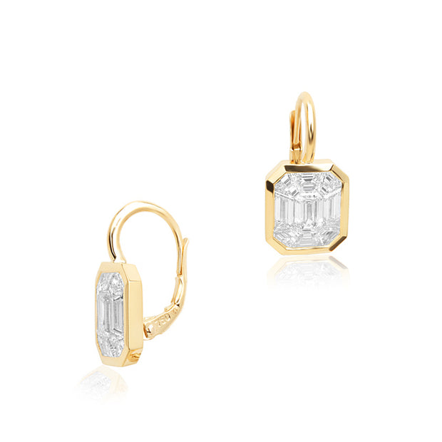 Rahaminov 18K Yellow Gold Kaleido Collection Diamond Earrings