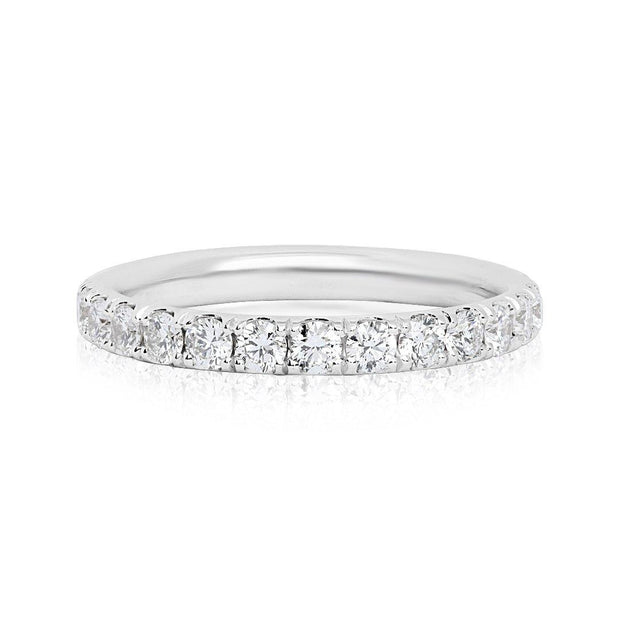 18K White Gold and Diamond Eternity Band