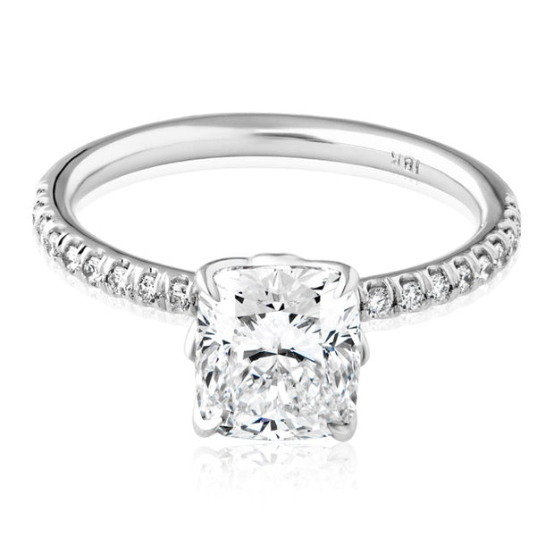 18K White Gold Forevermark Cushion Cut Diamond Ring