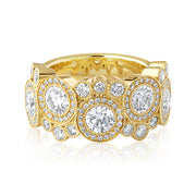 18K Yellow Gold Diamond Bubble Ring
