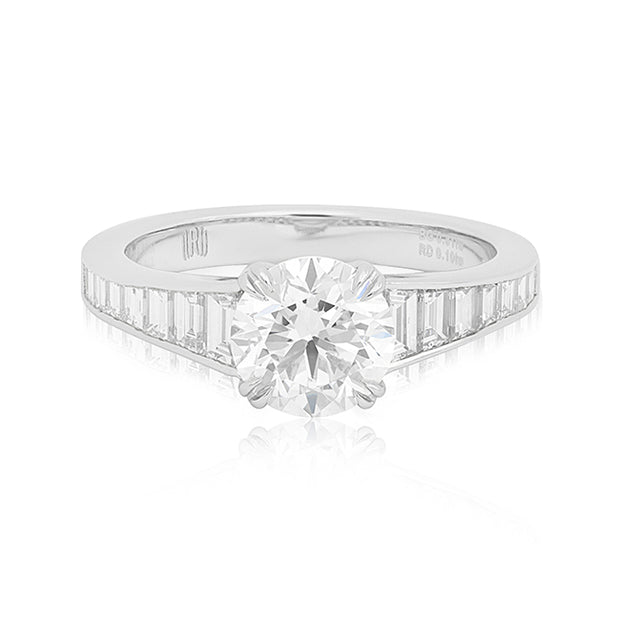 Rahaminov Platinum Baguette Diamond Mounting