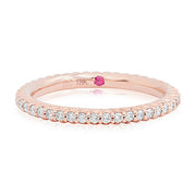 18K Rose Gold Round Diamond Eternity Ring