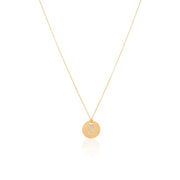 "18K Yellow Gold Tiny Treasures Diamond ""B"" Initial Pendant Necklace"