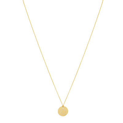 "18K Yellow Gold Tiny Treasures Diamond ""C"" Initial Pendant Necklace"