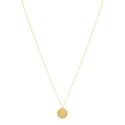 "18K Yellow Gold Tiny Treasures Diamond ""N"" Initial Pendant Necklace"