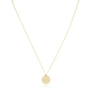 "Roberto Coin 18K Yellow Gold Tiny Treasures Diamond ""V"" Pendant"