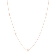 Roberto Coin 18K Rose Gold Necklace With Round Diamond Stations