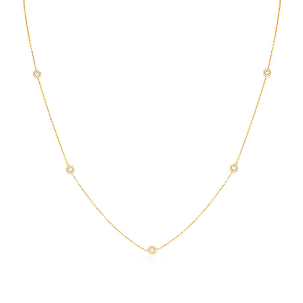 Yellow Gold and Diamond Necklace