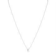 "18K White Gold Love Letter Collection Diamond ""K"" Initial Necklace"