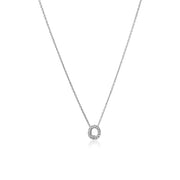 "Roberto Coin 18K White Gold Love Letter Diamond ""O"" Initial Pendant"