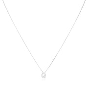 "18K White Gold Love Letter Collection Diamond ""Q"" Initial Necklace"