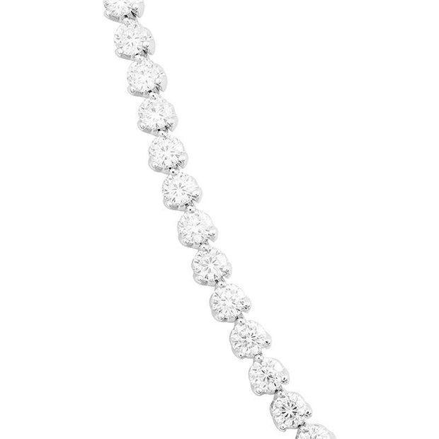 "18K White Gold 16"" Cento Collection Riviera Diamond Necklace"