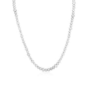 18K White Gold Cento Collection Linked Bezel Set Round Diamond Necklace