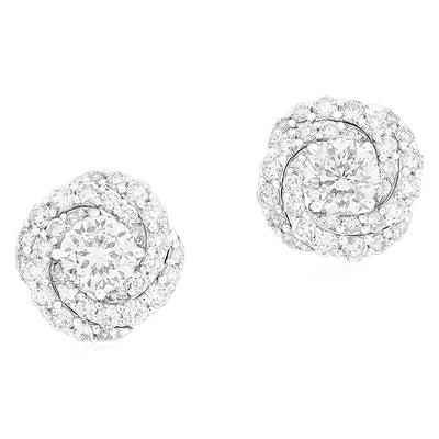 18K White Gold Cento Collection Diamond Earrings