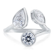 18K White Gold Cento Collection Mixed Diamond Ring