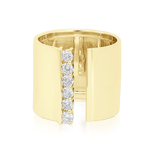18K Yellow Gold Cento Collection Diamond Ring