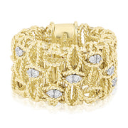 18K Yellow Gold Barocco Collection Diamond Ring With Assorted Marquise Shapes