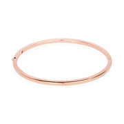 18K Rose Gold 2.5MM Hinged Bangle Bracelet