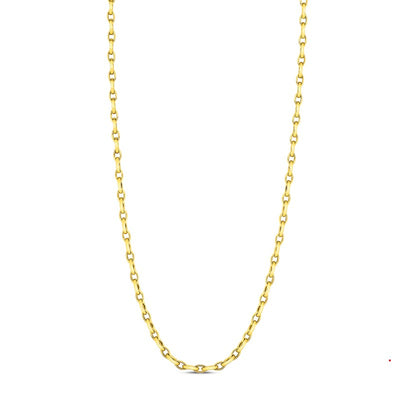 18K Yellow Gold Almond Link Necklace