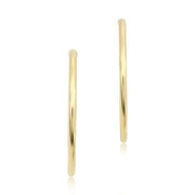 18K Yellow Gold Hoop Earrings With High Polished Finishes