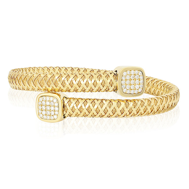 18K Yellow Gold Braided Bracelet