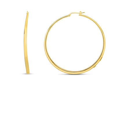 18K Yellow Gold Chic & Shine Collection Hoop Earrings