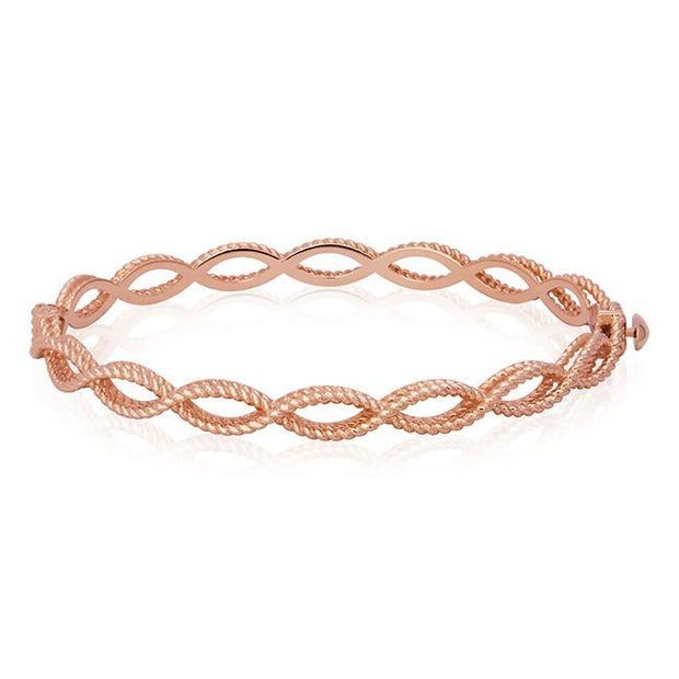18K Rose Gold Barocco Collection Braided Bangle Bracelet