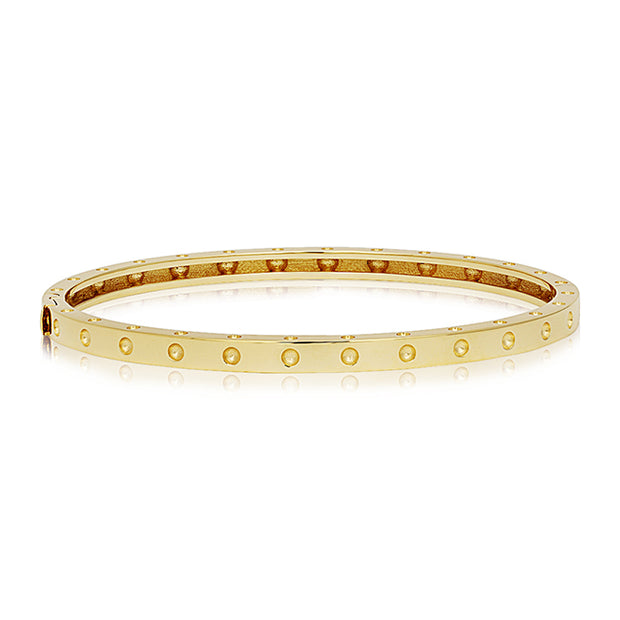 18K Yellow Gold Pois Moi Collection Bangle