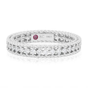 18K White Gold Symphony Collection Ring With Inner Row Set With Round Diamonds
